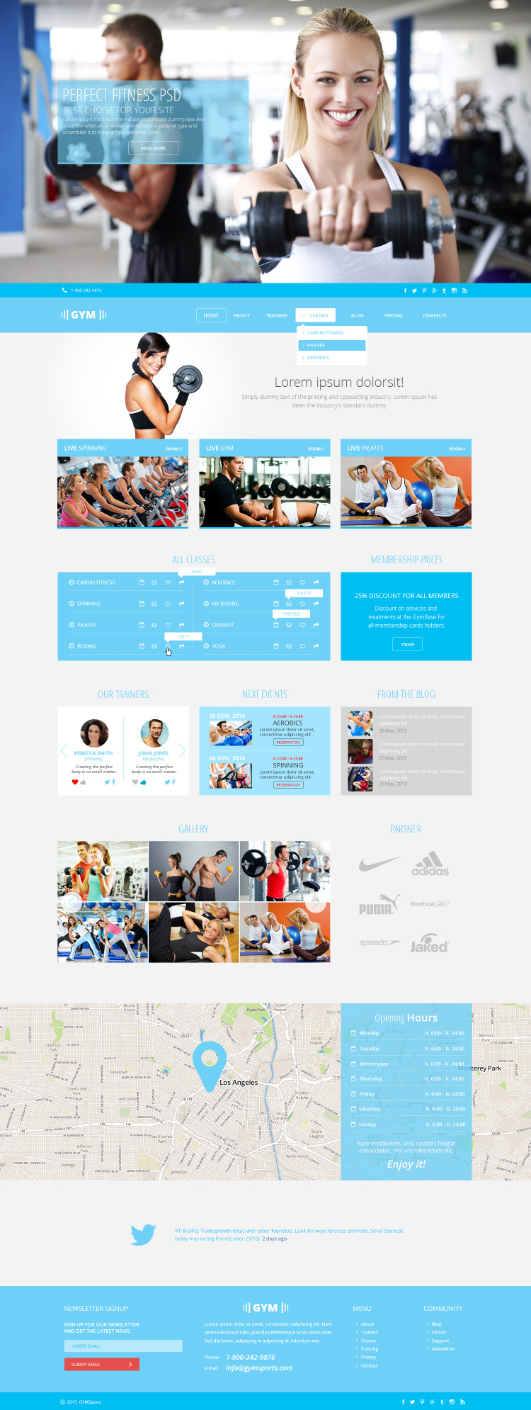 GYMSports PSD Template The Uncreative Lab - Membership website templates free