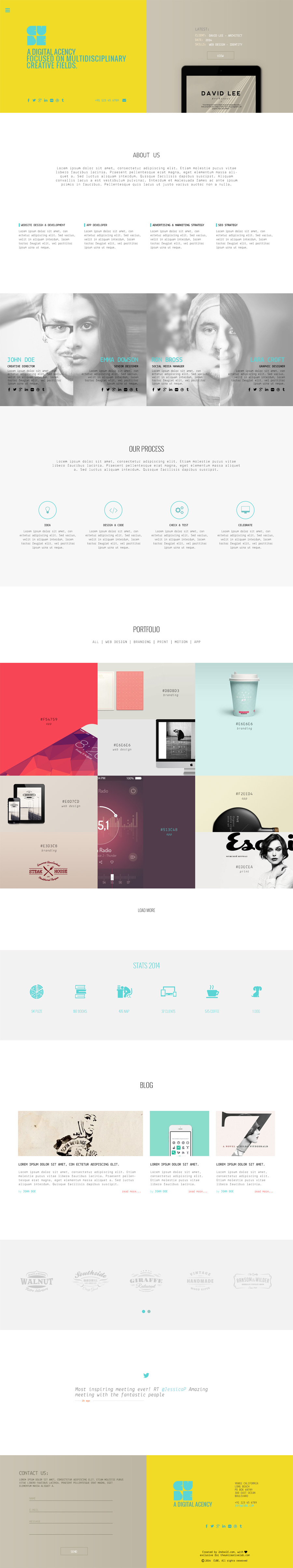 CUBE - Free .PSD Template